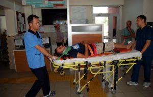 Otomobil ile motosiklet çarpıştı:1 yaralı