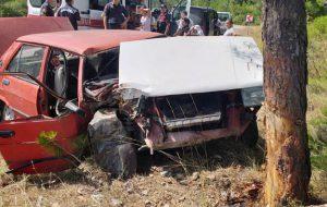 Trafik kazası; 2'si ağır 3 yaralı