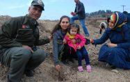 Bayramiç'te 30 bin fidan toprakla buluştu