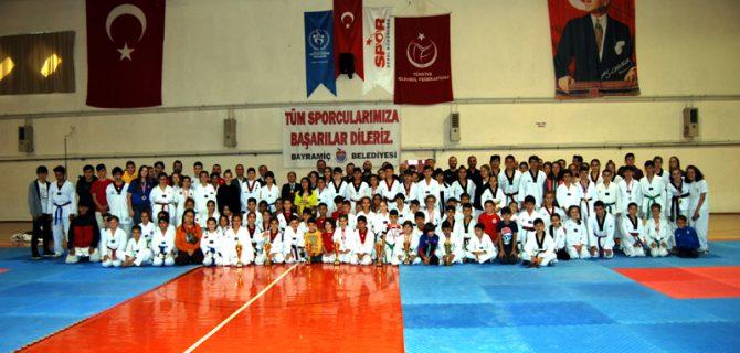 Bayramiç'te taekwondo şöleni