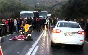 Ayvacık'ta ölümlü kaza