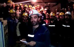 Yenice'de işçiler kendini madene kapattı