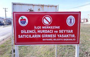 Bayramiç'e seyyar satıcı girmesi yasaklandı