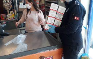 Belediyeden marketlere maske