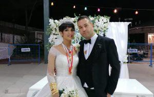Nuran ile Mesut evlendi