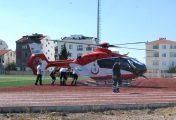Yaralı, helikopterle götürüldü