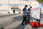 Bayramiç Belediyesi'nden okullara dezenfektan ünitesi