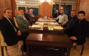 Başkanlar, yemekte buluştu