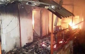 Gedik Köyü'nde ev yangını