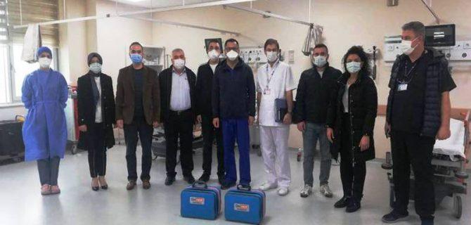Maden şirketlerinden pandemi hastanesine destek