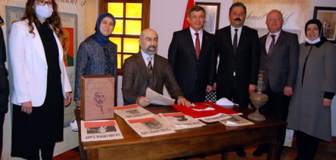 Gelecek Partisi Genel Başkanı Ahmet Davutoğlu;   Ankara, İstiklal Marşı için Bayramiç'e gelmeli