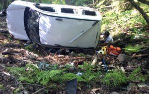 Kazdağları'nda araç şarampole uçtu; 1 ölü, 3 yaralı