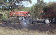 Bayramiç Orman Müdürlüğü araçları yangın bölgelerinde