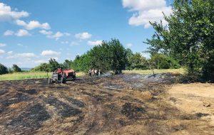 Ahmetçeli'de otluk alan yandı